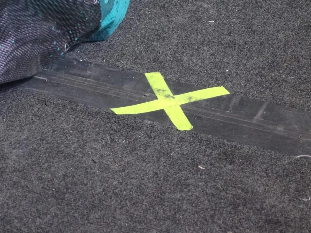Fluorescent Floor marking
