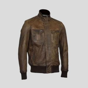 Aviator Leather Flight Jacket Mens