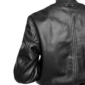 Fashion Leather Bomber Jacket