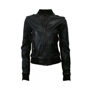 Napa Sheep Skin Leather Bomber Jacket