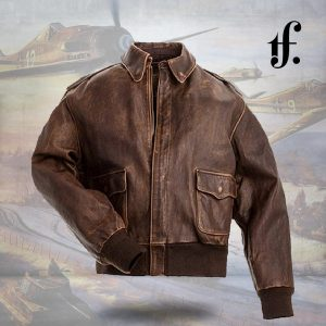 a2 jacket copy.jpgBrown Real Leather Mens Bomber Flight Jacket