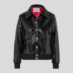 Leather bomber jacket for Women
