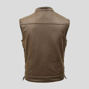 Men's Brown Real Leather Vest