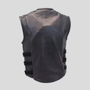 Triple Strap Motorcycle Vest with Armor and Gun Pockets