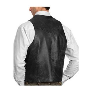 Vintage Style men leather vest