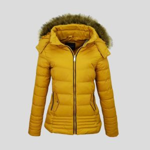 New Style Yellow Bubble Jacket for Women – Tapfer