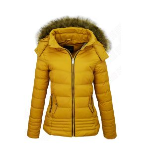 New Style Yellow Bubble Jacket for Women - Tapfer