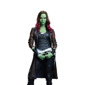 Galaxy Vol 2 Leather Coat of the Zoe Saldana Guardians