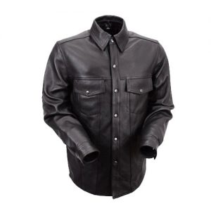 Men's Lightweight Leather Riding Shirts