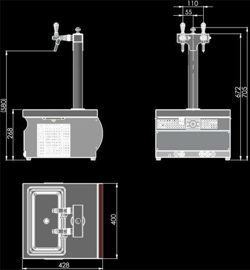 Lindr 55/K Profi dimensions