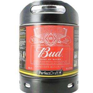 Perfect Draft 6L Budweiser keg