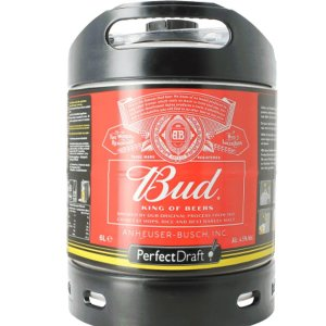 Perfect Draft 6L Budweiser keg