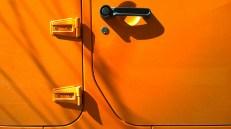 Orange side of a car