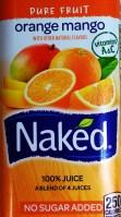 Naked orange mango label