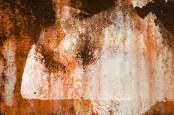 Abstract orange rust pattern