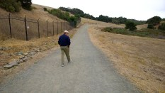 Hiker on park trail