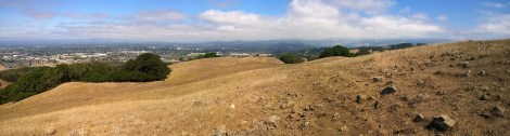 Panorama view from top of hiking trail.