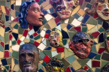 faces in a mosaic