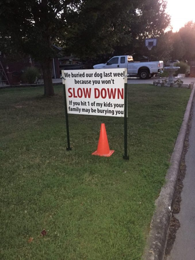 Kevin Jackman: Dog Gets Hit By Car, Puts Up Bold Sign