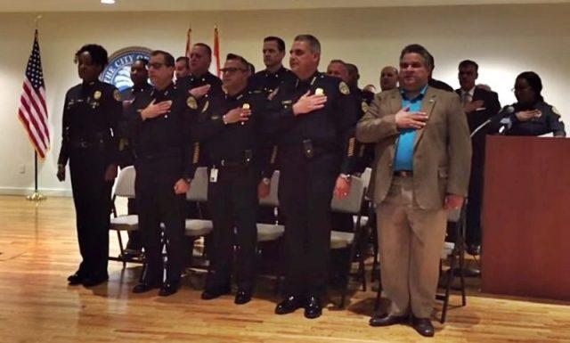 Assistant Chief of Police Anita Najiy Refuses Pledge Of Allegiance