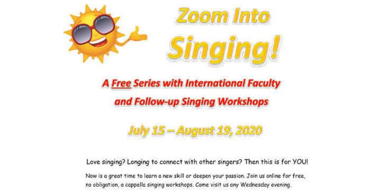 Local Chorus Offers Free Singing via Zoom - TAPinto
