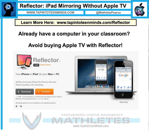 Reflector - Mirror iPad Without Apple TV in Classroom