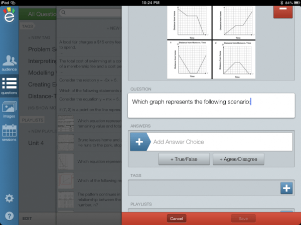 eClicker Presenter - Assessment and Evaluation on iPad