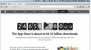 25 Billion Apps - Real World Math Task - Apple App Store