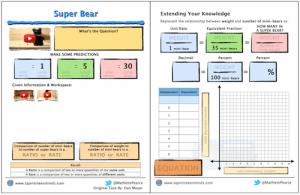 Super Bear 3 Act Math Task Template Screenshot 1