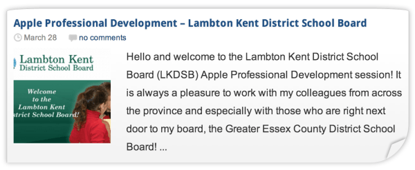 LKDSB Apple Professional Development iPad Workshop 1