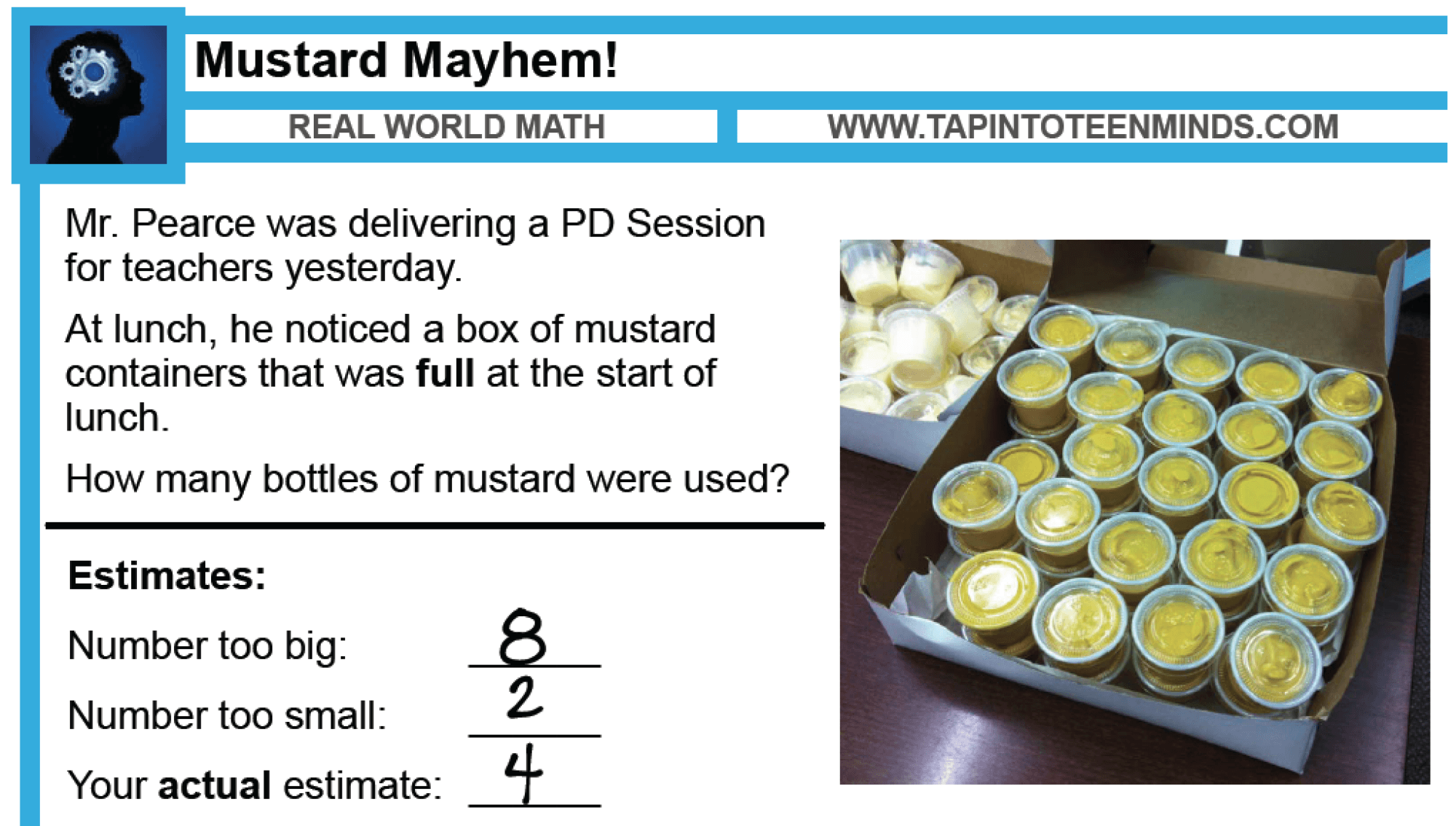 Here is a sample solution from my class the other day: