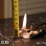 Candle's Burning for 333mins,0.5cm