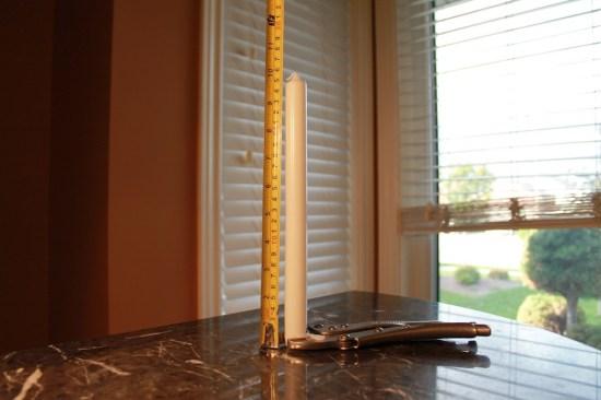Bigger Candle 26 cm tall | 3 Act Math Tasks
