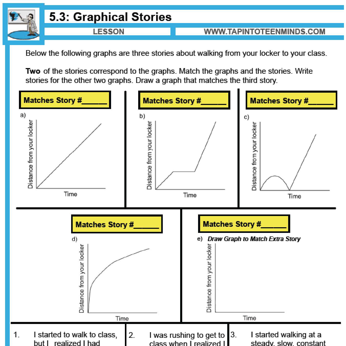 Distance Time Graph Worksheet