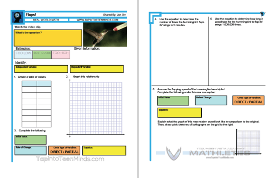 Flaps! 3 Act Math Task Template by Kyle Pearce