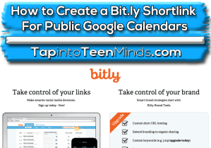 How to Create a Bit.ly Shortlink For Sharing Your Public Google Calendar