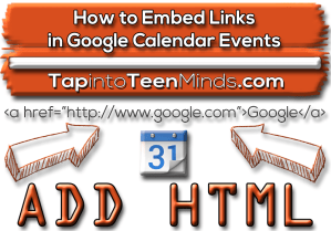 How to Embed Links in Shared Public Google Calendar Events
