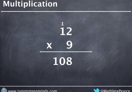 North American Multiplication Algorithm 12 x 9 = 108