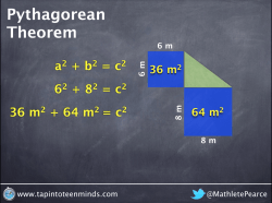 Pythagorean Theorem - Simplifying 6-squared and 8-squared