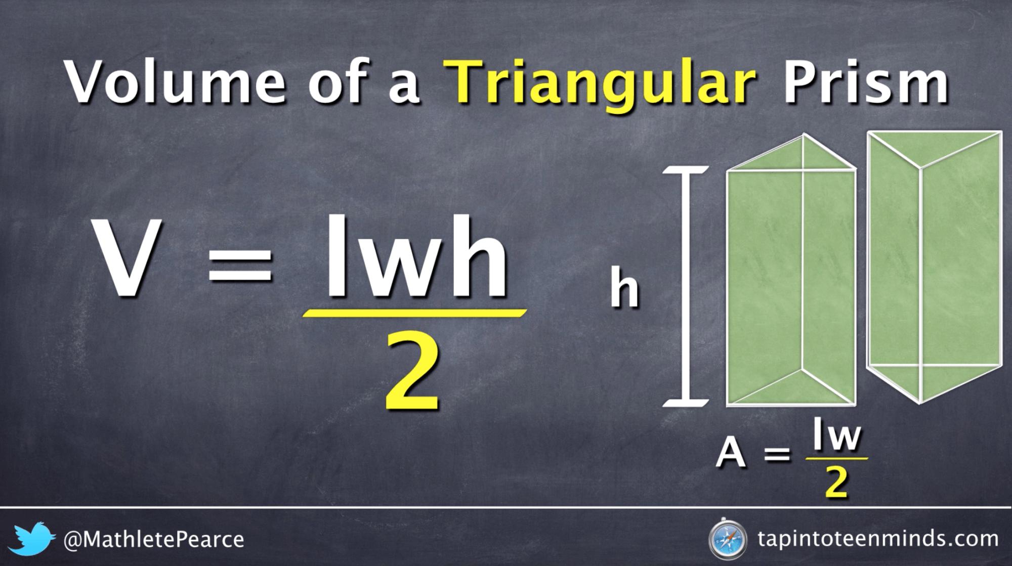 Visualizing The Volume Of A Triangular Prism Formula