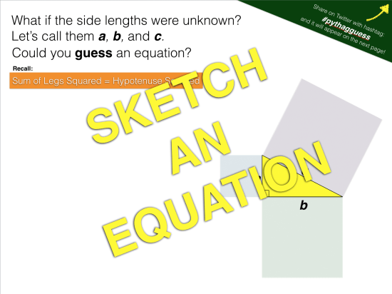 Sketch an Equation for Pythagorean Theorem