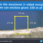 Visualizing Optimization - Maximizing the Area of a 3-Sided Rectangular Enclosure
