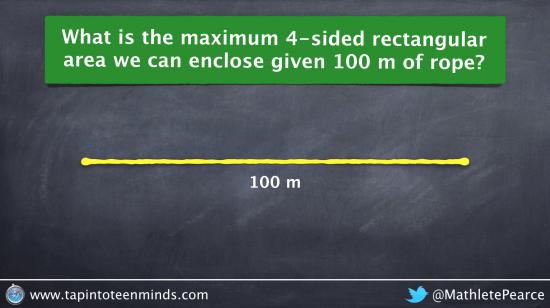 Visualizing the Maximum Area of a 4-Sided Rectangular Enclosure
