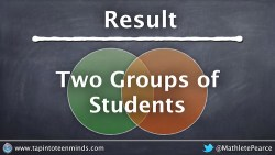 Two Groups of Math Students