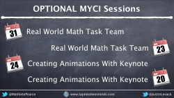 Expression of Interest in Optional MYCI Professional Development Sessions