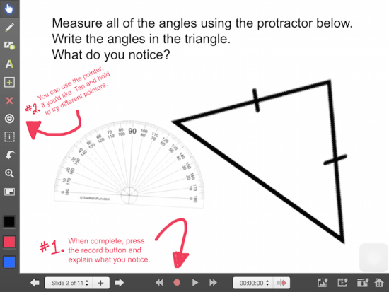 Explain Everything Math Learning Journey - Isosceles Triangle Theorem Discovery
