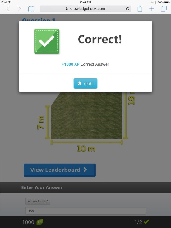 Curious Math iTunes U Course - 15 Knowledgehook Gameshow CORRECT