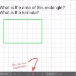 Explain Everything Area Investigation Learning Journey - 2 Area of Rectangle Formula