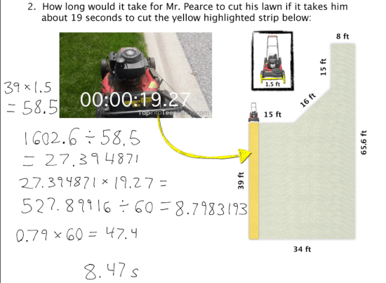 Mowing the Lawn - Student Exemplar #2 Finding Time