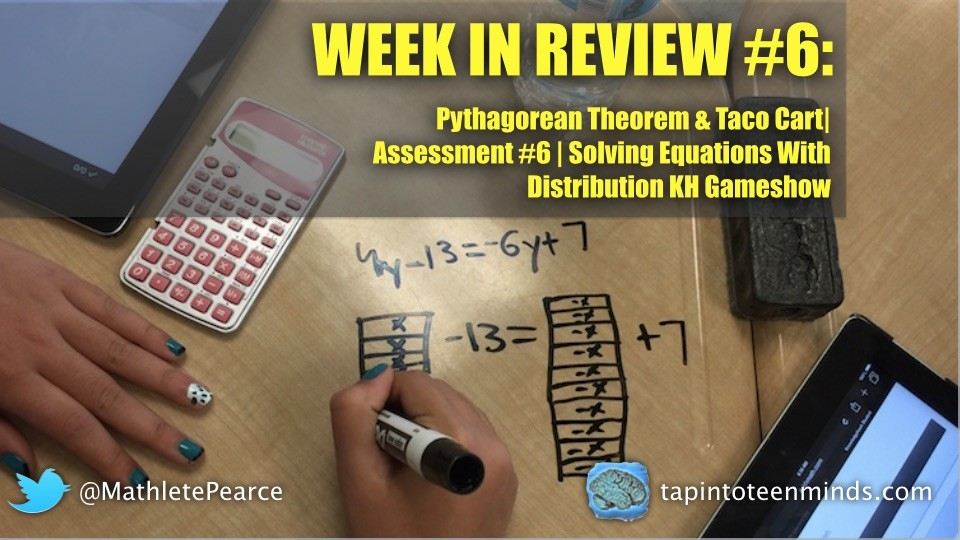 WIR #6 - Pythagorean Theorem, Equations, and Linear Relations